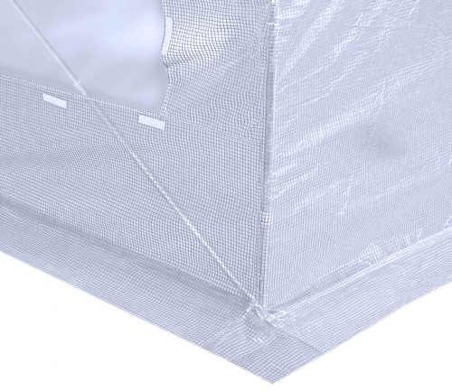 Přesah plachty fóliovníku pro zatížení kameny případně zahrabání pod zem