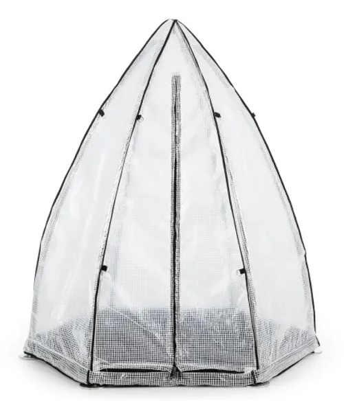Pyramidový fóliovník pro zimní ochranu rostlin