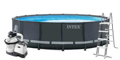 Kompletní bazénový set včetně schůdků a pískové filtrace