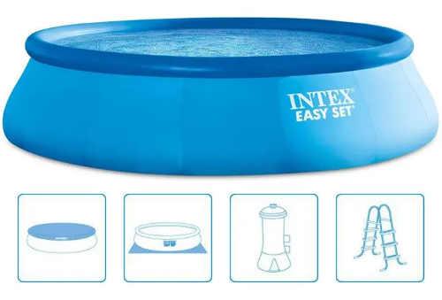 Kruhový samonosný bazén s nafukovacím límcem kompletní set