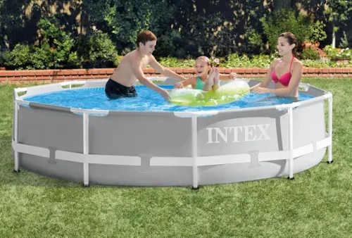 Menší dětský zahradní bazén Intex s pevnou konstrukcí