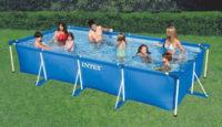 Obdelníkový nadzemní bazén Intex Frame Family 4,5 x 2,2 x 0,84 m s kartušovou filtrací