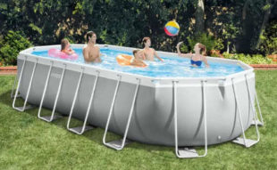 Rodinný oválný zahradní bazén Intex 6,10 x 3,05 x 1,22 m