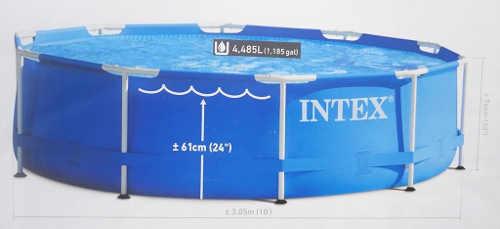 Zahradní bazén Intex o průměru 3 m