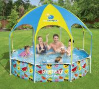 Dětský zahradní bazén se stříškou Bestway 2,44 x 0,51m