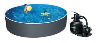 Kruhový kovový bazén Orlando Premium DL 4,60 x 1,22 m s pískovou filtrací