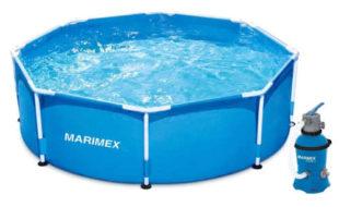 Menší nadzemní bazén Marimex 2,44x0,76 m s pískovou filtrací