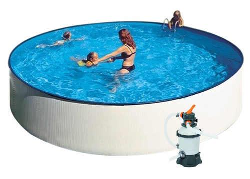 Menší plechový nadzemní bazén na zahradu GRE Splash 2,4 x 0,9m