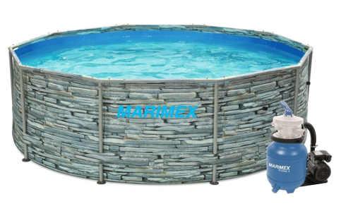 Nadzemní bazén motiv KÁMEN - Marimex Florida 3,05x0,91 m s pískovou filtrací