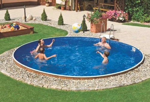 Plechový zahradní bazén s možností zapuštění do země