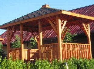 Dřevěný zahradní altán OREGON se šindelovou střechou