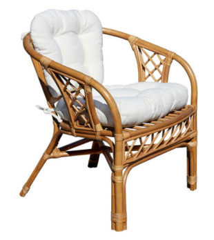 Křeslo na terasu MANAU z bambusu a přírodního ratanu