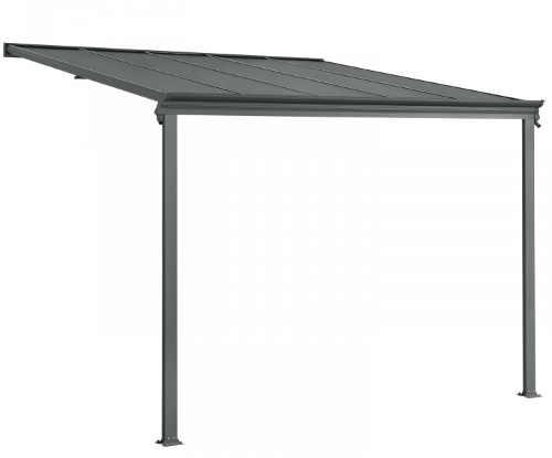 Levná hliníková pergola s polykarbonátovou střechou