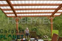 WOODY ARC dřevěná pergola s polykarbonátem