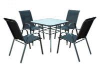 Zahradní jídelní set Santora se čtyřmi židlemi