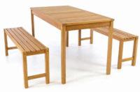 Zahradní lavice a stůl z masivního z teakového dřeva