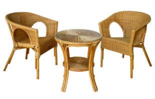 Zahradní sestava MANILA z bambusu a přírodního ratanu
