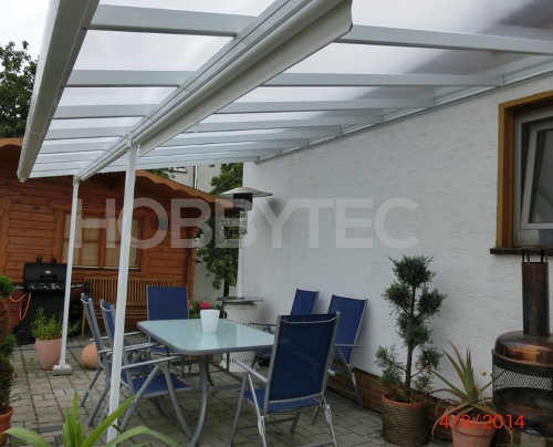 Zastřešení terasy hliníková konstrukce polykarbonátová střecha