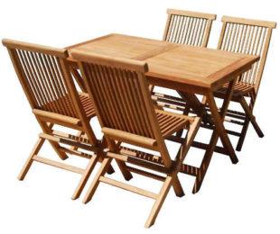 Levná sada zahradního nábytku z teakového dřeva
