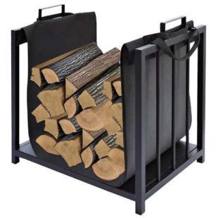 Stabilní kovový koš na dřevo s pohodlnou rukojetí