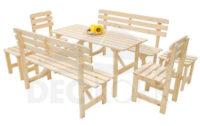Velký dřevěný set zahradního nábytku z masivní borovice