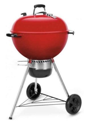 Zářivě červený gril na dřevěné uhlí Weber Master-Touch GBS 57 cm
