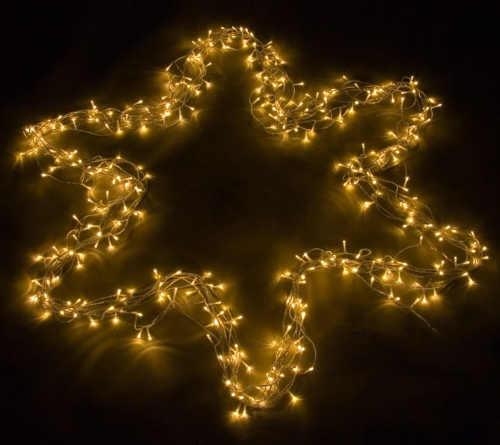 Žlutý vánoční LED řetěz dlouhý 60 m