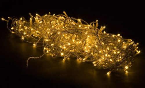 Žlutý vánoční řetěz 600 led diod