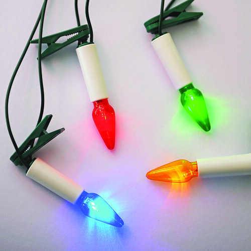 Barevné svíčky na vánoční stromek