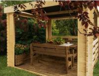 Dřevěný zahradní altán stavebnice