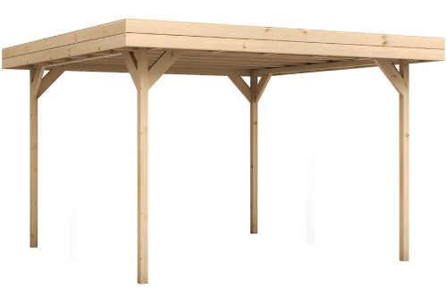 Minimalistický dřevěný zahradní altán