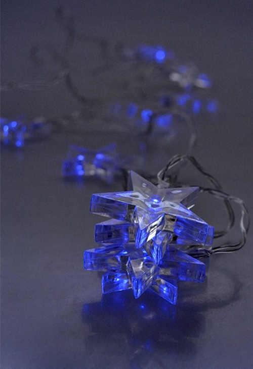Modré svítící hvězdy Solight na baterie