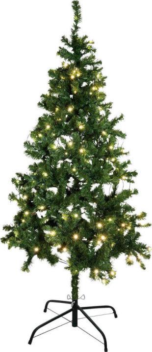 Umělý vánoční stromek 180 cm včetně LED osvětlení