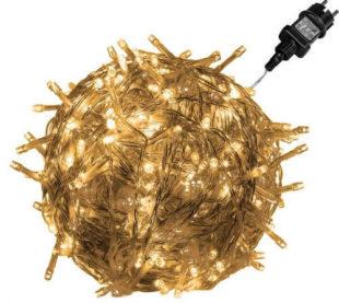 Vánoční LED řetěz - 20 m, 200 LED, teple bílé