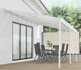 Velká hliníková pergola 3 x 6 m s polykarbonátovou střechou