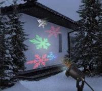 Venkovní vánoční LED projektor sněhové vločky