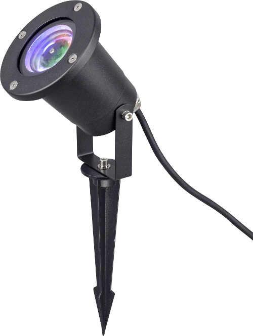 Zahradní vánoční LED projektor osvětlující terasu domu