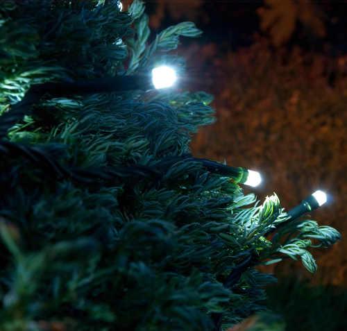 Osvětlení venkovního vánočního stromu řetěz na baterie