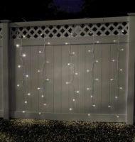 Světelný závěs 100 LED diod vyzařujících teplé bílé světlo