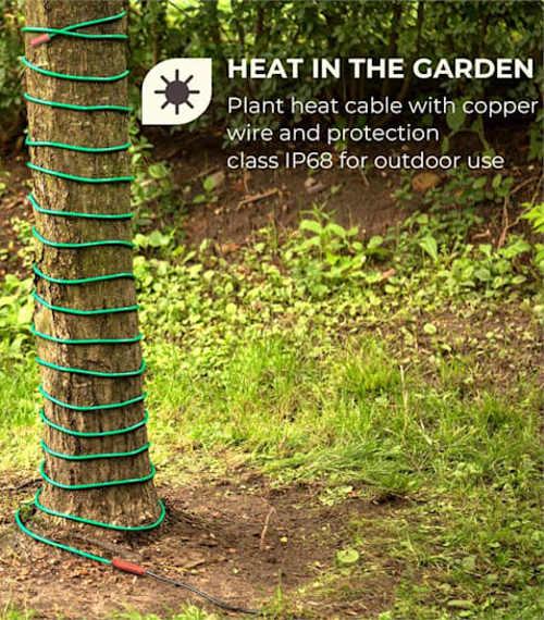 Topný kabel pro ochranu stromů před mrazy