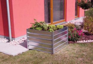 Kovový vyvýšený záhon do zahrady i na balkon
