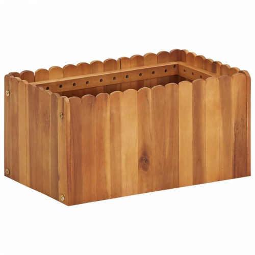 Truhlík z akáciového dřeva v působivém designu