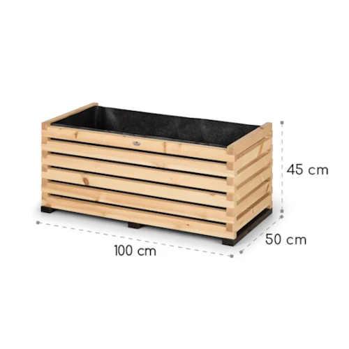 dřevěný vyvýšený záhon do exteriéru