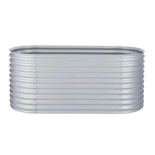 moderní vyvýšený záhon stříbrný