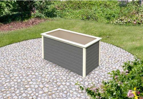 vyvýšený dřevěný záhon v elegantním provedení