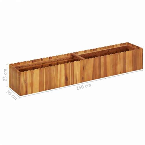 zahradní moderní truhlík ze dřeva