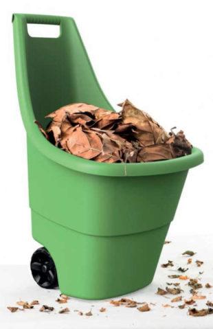 Plastový zahradní vozík koš na kolečkách