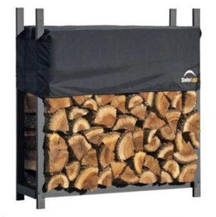 Kovový stojan na dřevo 119x36x120 cm