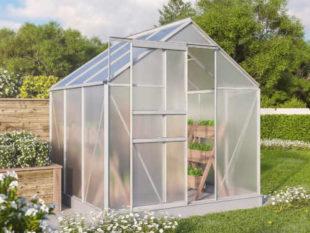 Hliníkový skleník se střešním oknem