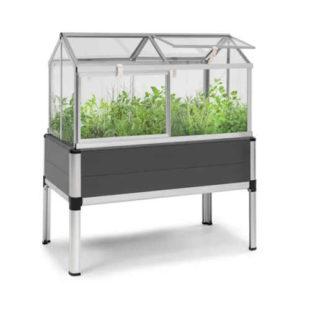 Vyvýšený skleník v moderním designu